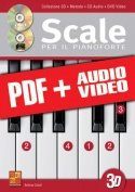 Scale per il pianoforte in 3D (pdf + mp3 + video)