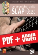 Slap & Tecniche di espressione per basso in 3D (pdf + mp3 + video)