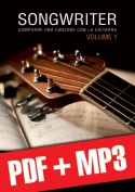 Songwriter - Comporre una canzone con la chitarra (pdf + mp3)