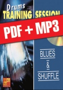 Drums Training Session - Blues & shuffle (pdf + mp3)