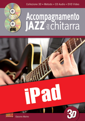 Accompagnamento jazz alla chitarra in 3D (iPad)