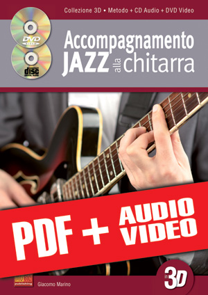 Accompagnamento jazz alla chitarra in 3D (pdf + mp3 + video)