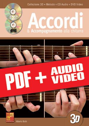 Accordi & accompagnamento alla chitarra in 3D (pdf + mp3 + video)