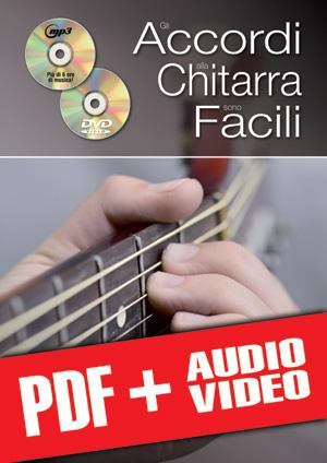 Gli accordi alla chitarra sono facili... con il sistema CAGED (pdf + mp3 + video)