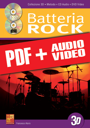 La batteria rock in 3D (pdf + mp3 + video)
