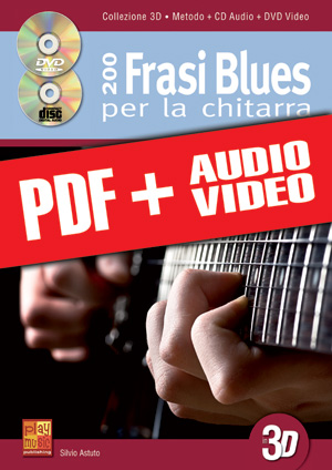 200 frasi blues per la chitarra in 3D (pdf + mp3 + video)