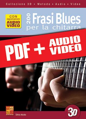 200 frasi blues per la chitarra in 3D (pdf + mp3 + video)