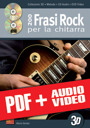 200 frasi rock per la chitarra in 3D (pdf + mp3 + video)