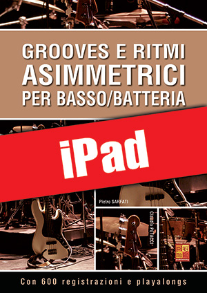 Grooves e ritmi asimmetrici per basso/batteria (iPad)