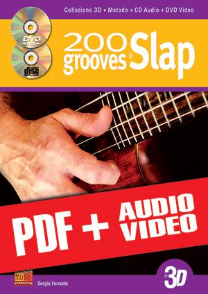200 grooves in slap in 3D (pdf + mp3 + video)