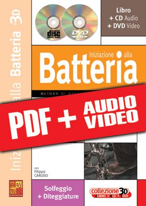 Iniziazione alla batteria in 3D (pdf + mp3 + video)