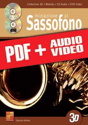 Iniziazione al sassofono in 3D (pdf + mp3 + video)