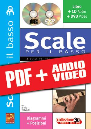 Scale per il basso in 3D (pdf + mp3 + video)