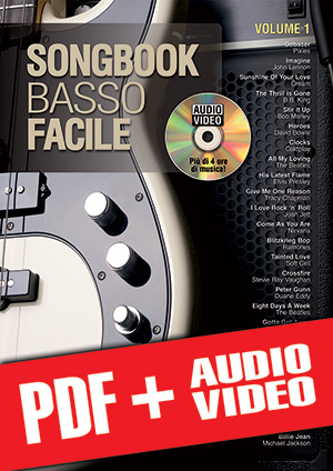 Songbook Basso Facile - Volume 1 (pdf + mp3 + video)