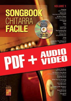 Songbook Chitarra Facile - Volume 1 (pdf + mp3 + video)