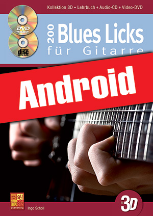 200 Blues Licks für Gitarre in 3D (Android)
