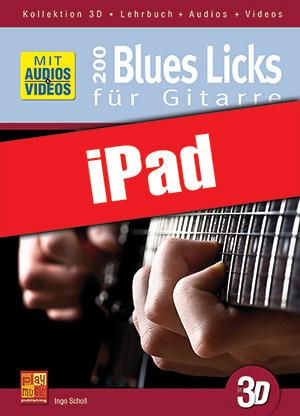 200 Blues Licks für Gitarre in 3D (iPad)