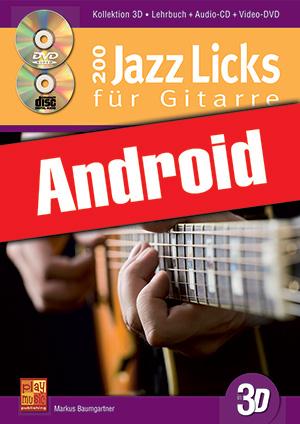 200 Jazz Licks für Gitarre in 3D (Android)