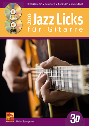 200 Jazz Licks für Gitarre in 3D