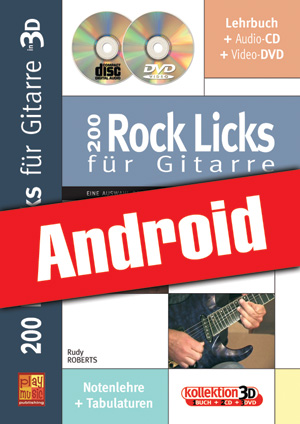 200 Rock Licks für Gitarre in 3D (Android)