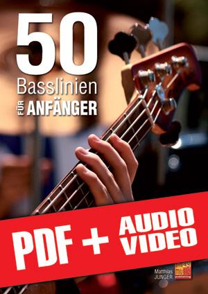 50 Basslinien für Anfänger (pdf + mp3 + videos)