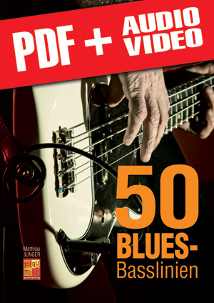 50 Blues-Basslinien (pdf + mp3 + videos)
