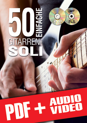 50 Einfache Gitarren-Soli (pdf + mp3 + videos)