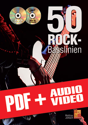50 Rock-Basslinien (pdf + mp3 + videos)