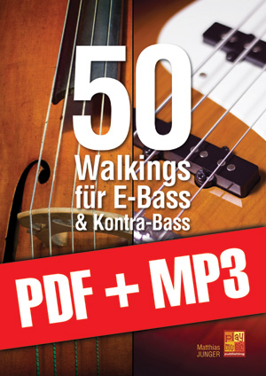 50 Walkings für E-Bass & Kontra-Bass (pdf + mp3)