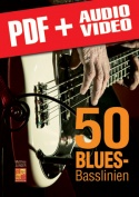 50 Blues-Basslinien (pdf + mp3 + videos)