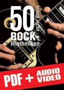 50 Rock-Rhythmiken an der Gitarre (pdf + mp3 + videos)