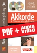 Akkorde & Gitarrenbegleitung in 3D (pdf + mp3 + videos)