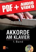 Akkorde am Klavier - 1. Band (pdf + mp3 + videos)