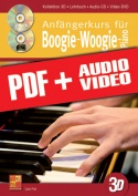 Anfängerkurs für Boogie-Woogie-Piano in 3D (pdf + mp3 + videos)