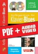 Anfängerkurs für Klavier-Blues in 3D (pdf + mp3 + videos)
