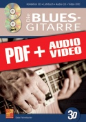 Die Blues-Gitarre in 3D (pdf + mp3 + videos)