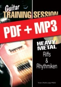 Guitar Training Session - Heavy Metal - Riffs & Rhythmiken (pdf + mp3)
