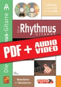 Die Rhythmus-Gitarre in 3D (pdf + mp3 + videos)