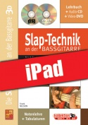Die Slap-Technik an der Bassgitarre in 3D (iPad)