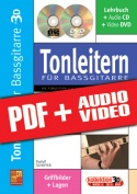 Tonleitern für Bassgitarre in 3D (pdf + mp3 + videos)