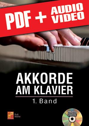Akkorde am Klavier - 1. Band (pdf + mp3 + videos)