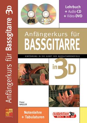 Anfängerkurs für Bassgitarre in 3D