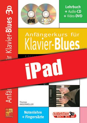 Anfängerkurs für Klavier-Blues in 3D (iPad)