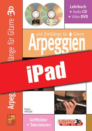 Arpeggien und Dreiklänge für Gitarre in 3D (iPad)