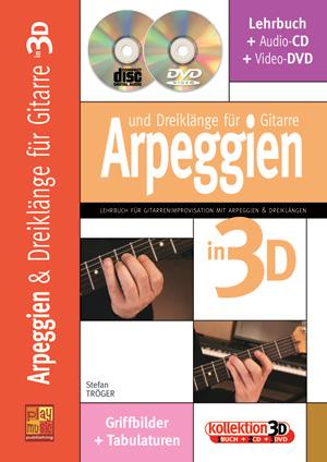 Arpeggien und Dreiklänge für Gitarre in 3D