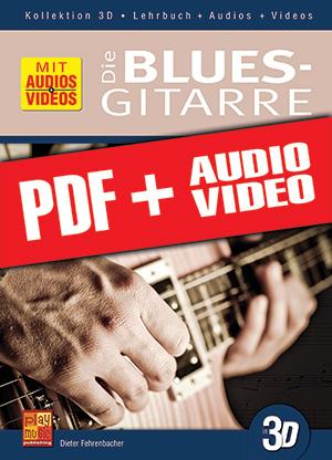 Die Blues-Gitarre in 3D (pdf + mp3 + videos)