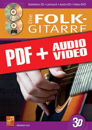 Die Folk-Gitarre in 3D (pdf + mp3 + videos)