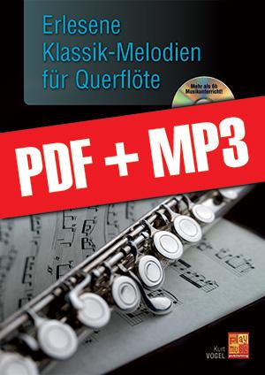 Erlesene Klassik-Melodien für Querflöte (pdf + mp3)