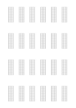Bassgitarre (6-Bund-Diagramme)