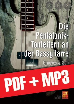 Die Pentatonik-Tonleitern an der Bassgitarre (pdf + mp3)